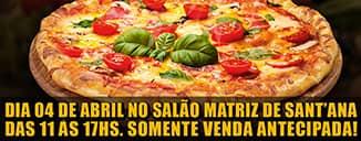 Que tal desfrutar de uma deliciosa pizza e ainda fazer o bem ao próximo?