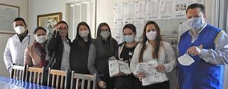 Rotary Pitanga Avante faz doação de máscara N95